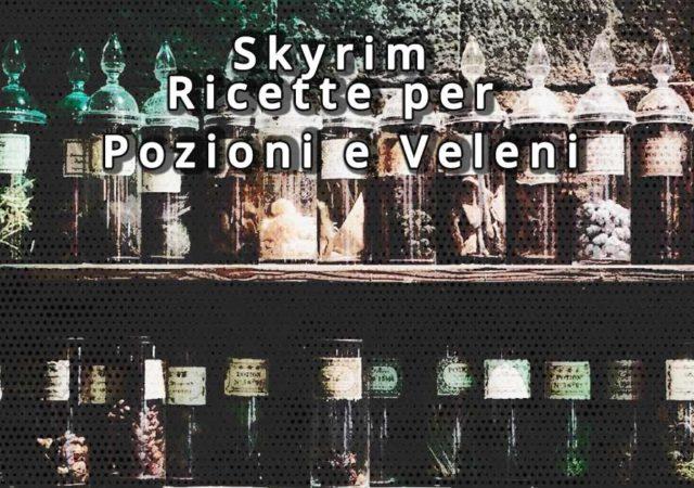 skyrim ricette per pozioni e veleni