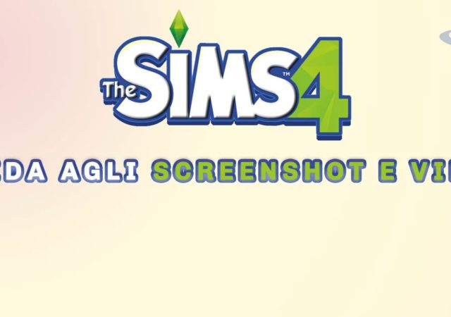 guida screenshot e video the sims 4