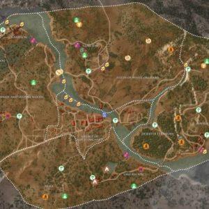 Mappa con tutti i collezionabili di Bianco Frutteto