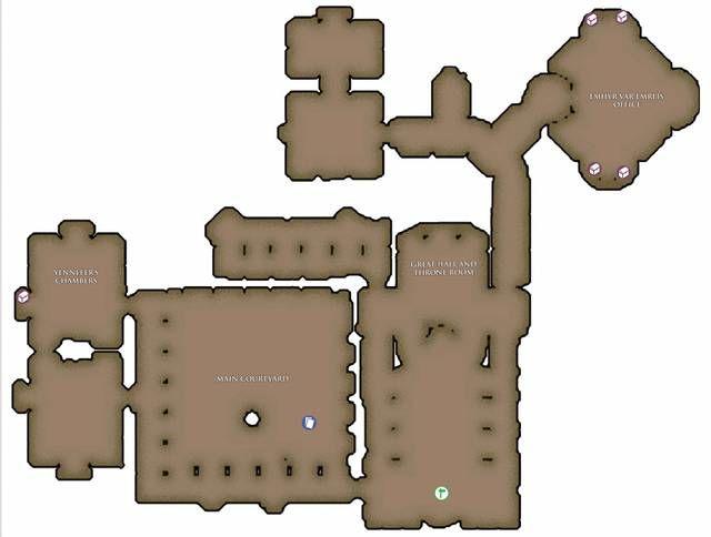 The Witcher 3 tutti i tesori del palazzo reale di Vizima