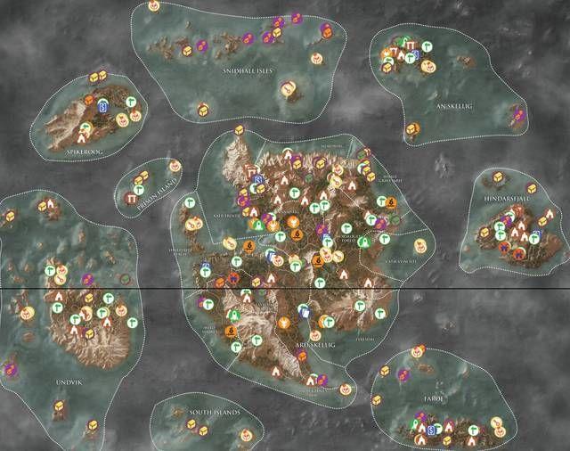 Tutti i Tesori di Skellige e i segreti in The Witcher 3