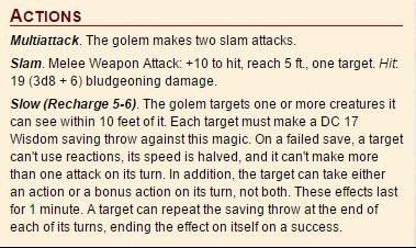 D&D 5 Stone Golem
