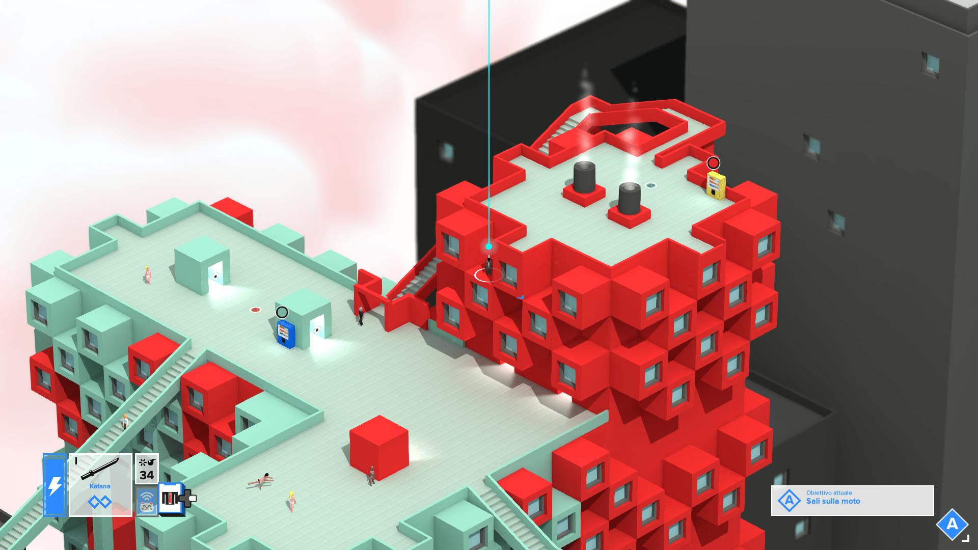 Tokyo 42 - L'aspetto del gioco a volte ci darà la sensazione di essere dentro ad un mondo costruito con dei mattoncini Lego