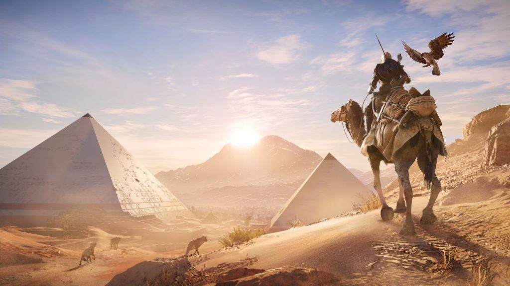 Assassin's Creed Origins camel_pyramids