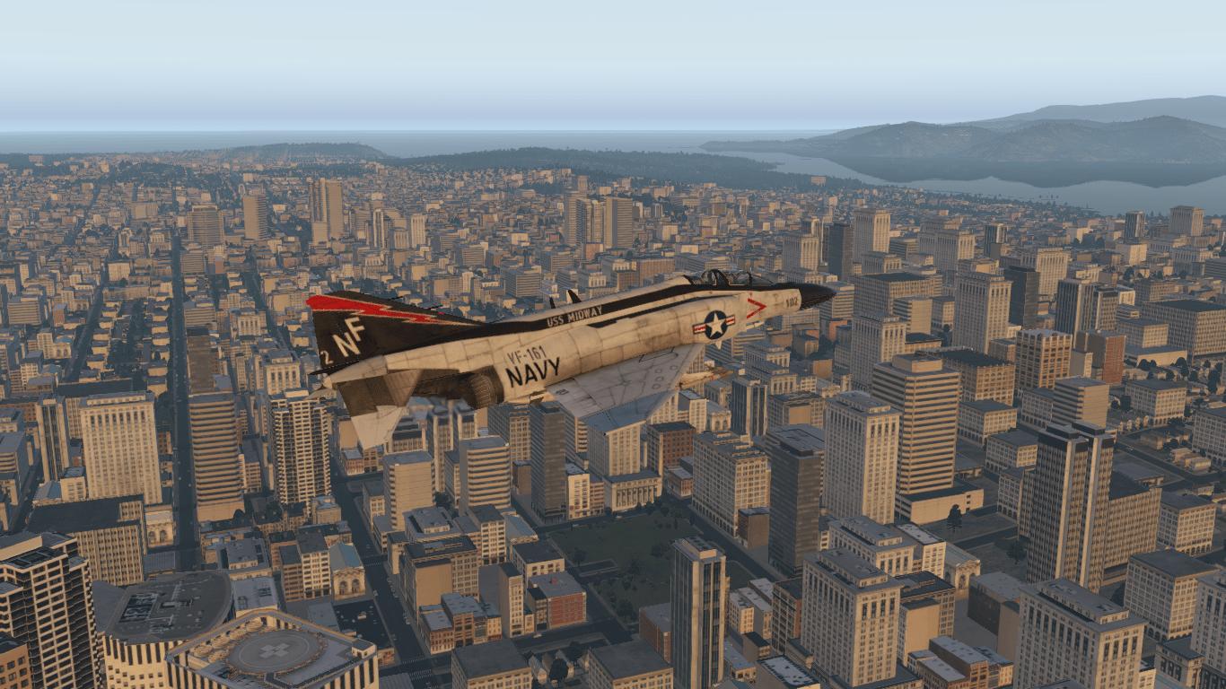 X-Plane F-4 Città