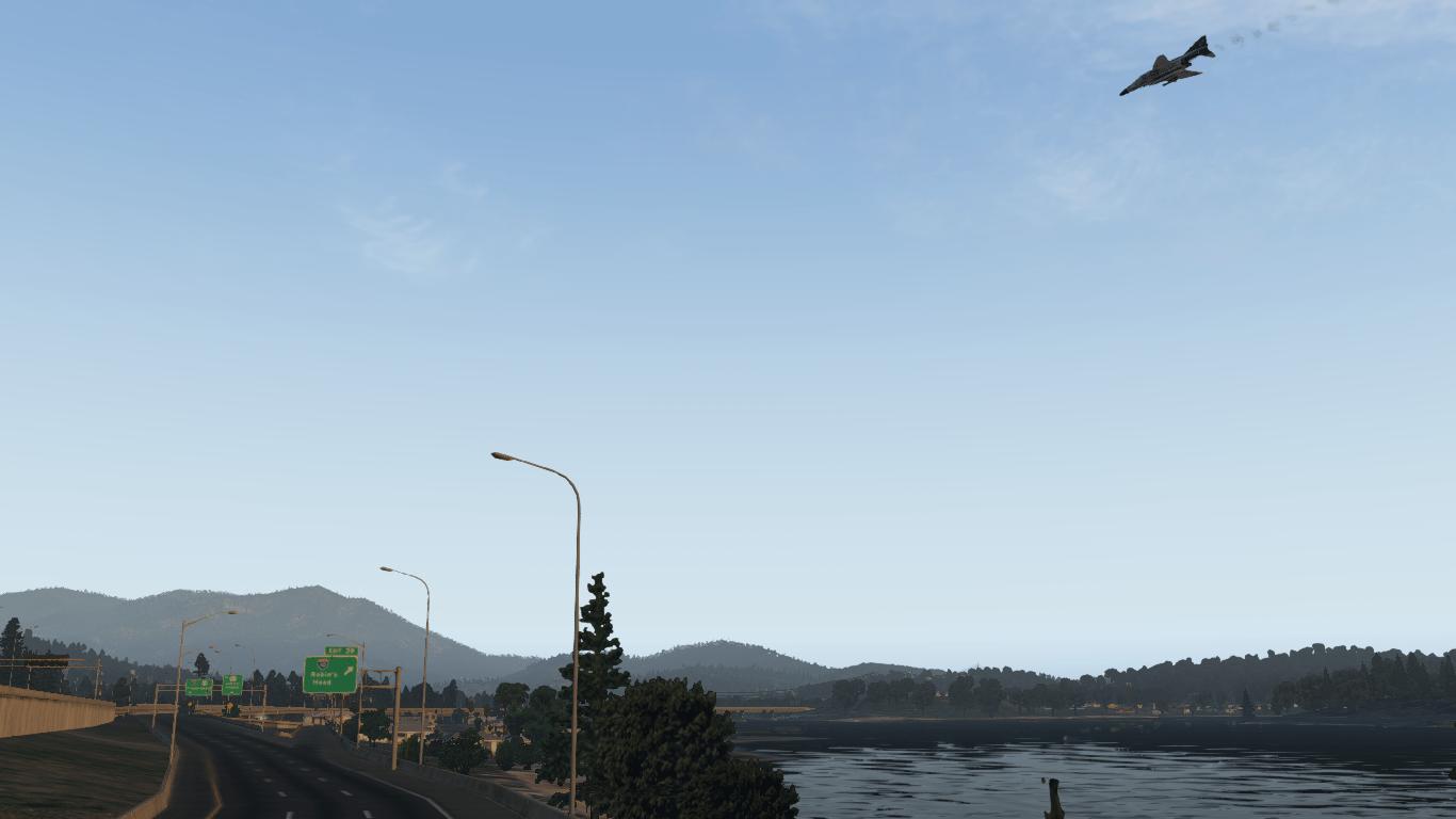 X-Plane F-4 Phantom autostrada