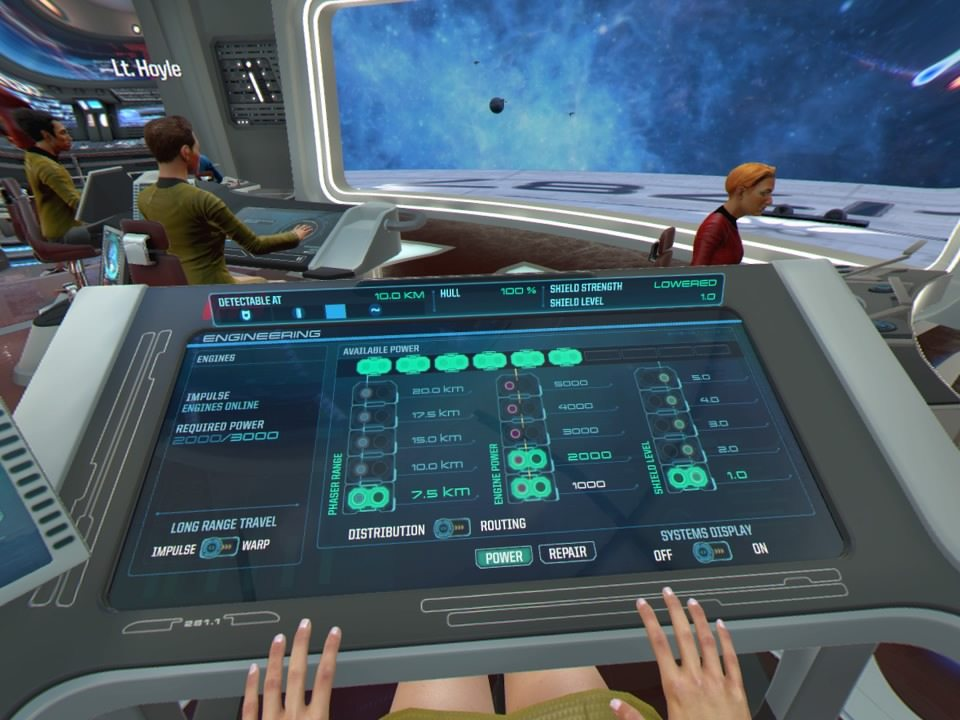 Star Trek Bridge Crew Ingegnere