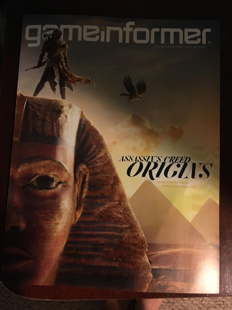 Assassin's Creed Origins Gameinformer cover
