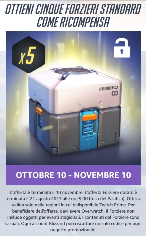 overwatch loot box gratis twitch prime