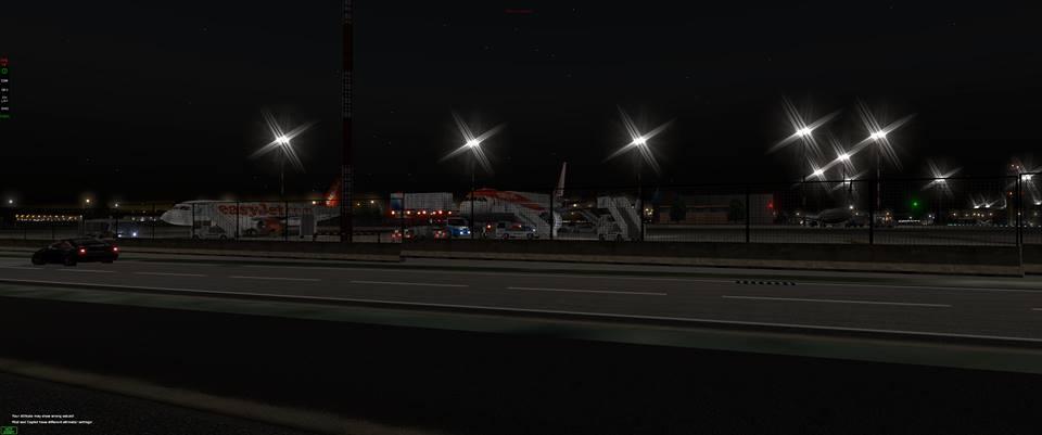 X-Plane servizi terrestri notte