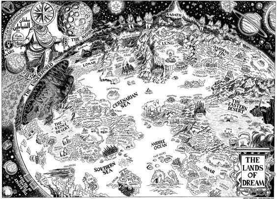 mappa dei reami del sogno lovecraft