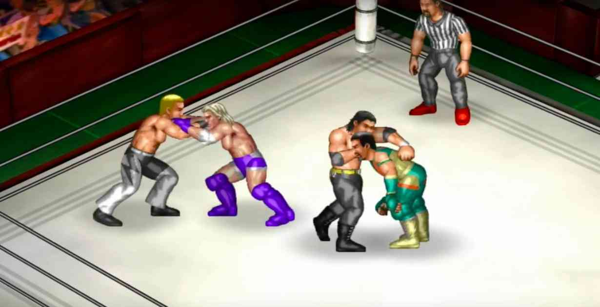 Fire pro wrestling gameplay