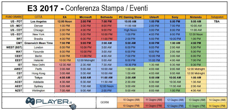 tabella orari E3