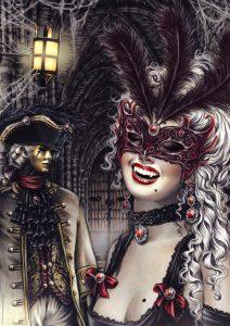 Vampire masquerade maschera toreador
