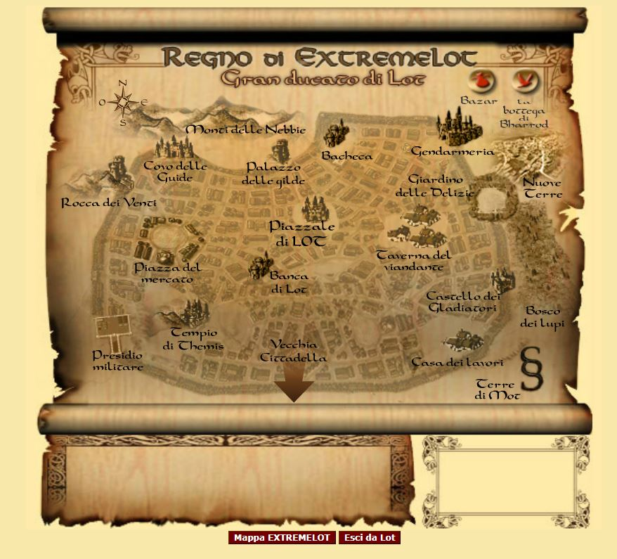 Mappa del regno di Extremlot