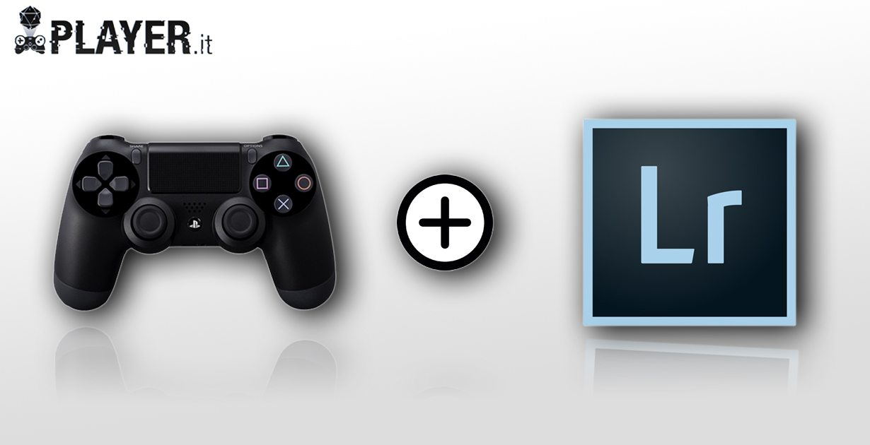come usare il controller playstation con lightroom