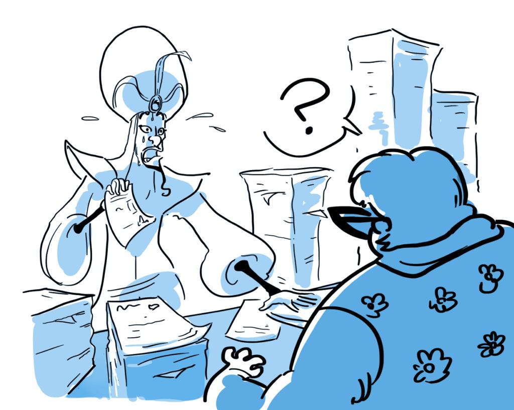 Jafar da Mary Del Catasto, che lavora al catasto