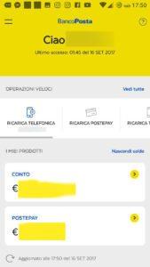 interfaccia principale app