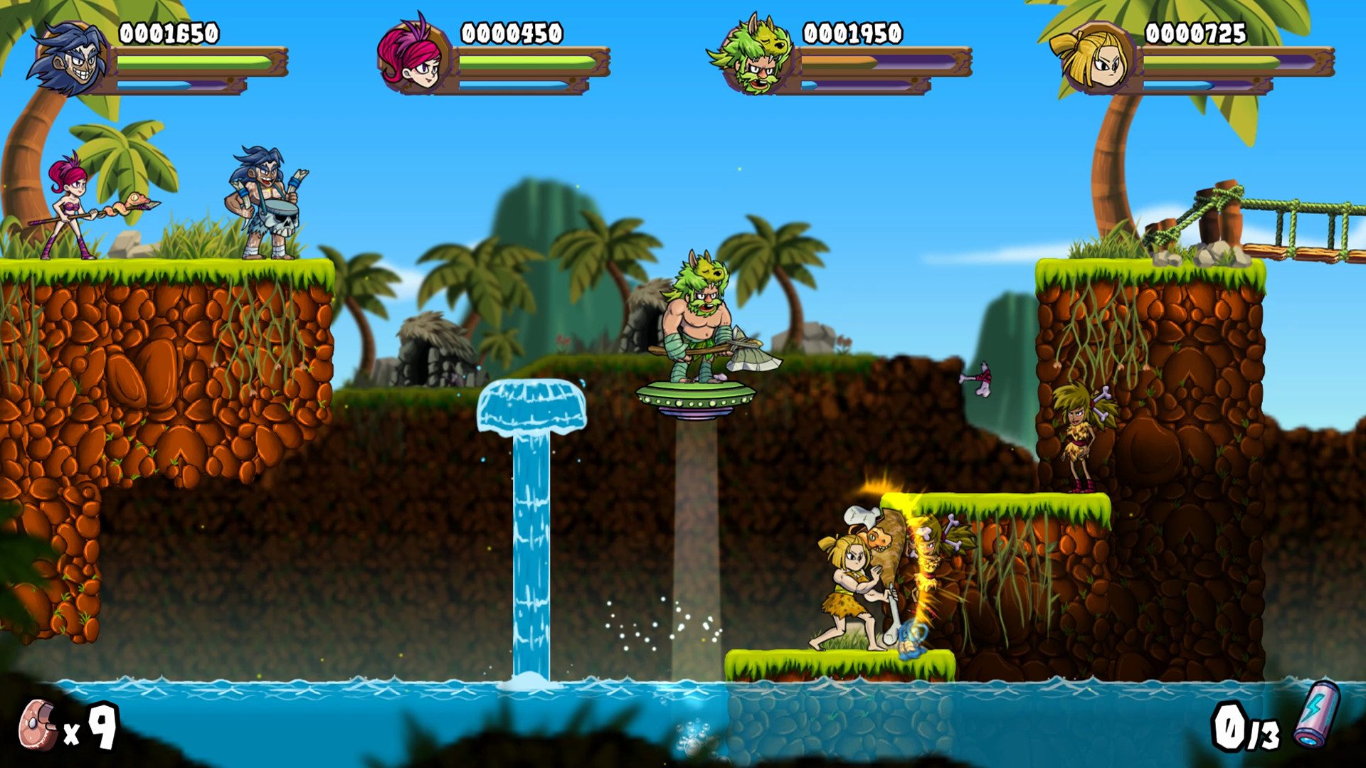 Caveman Warriors platform