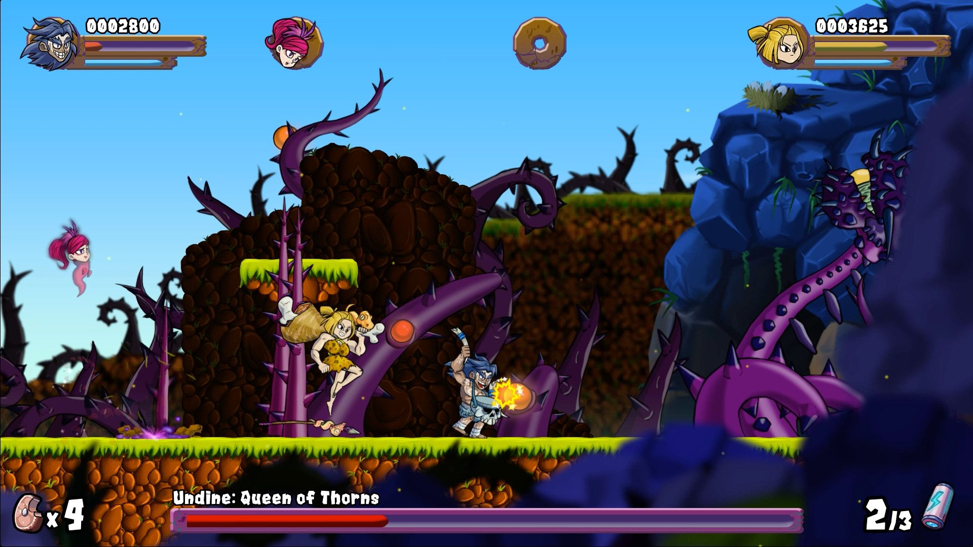 caveman warriors boss fight 1