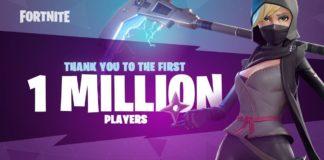 fortnite un milione di utenti battle royale
