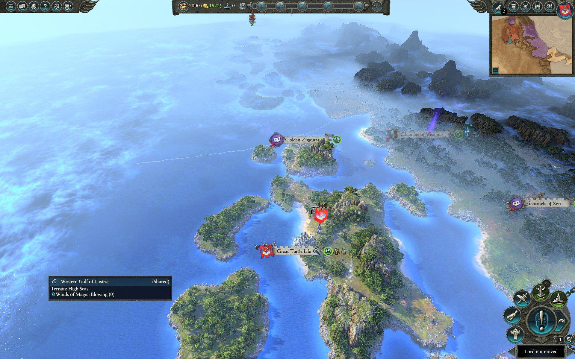 Isola tartaruga teclis warhammer 2 total war