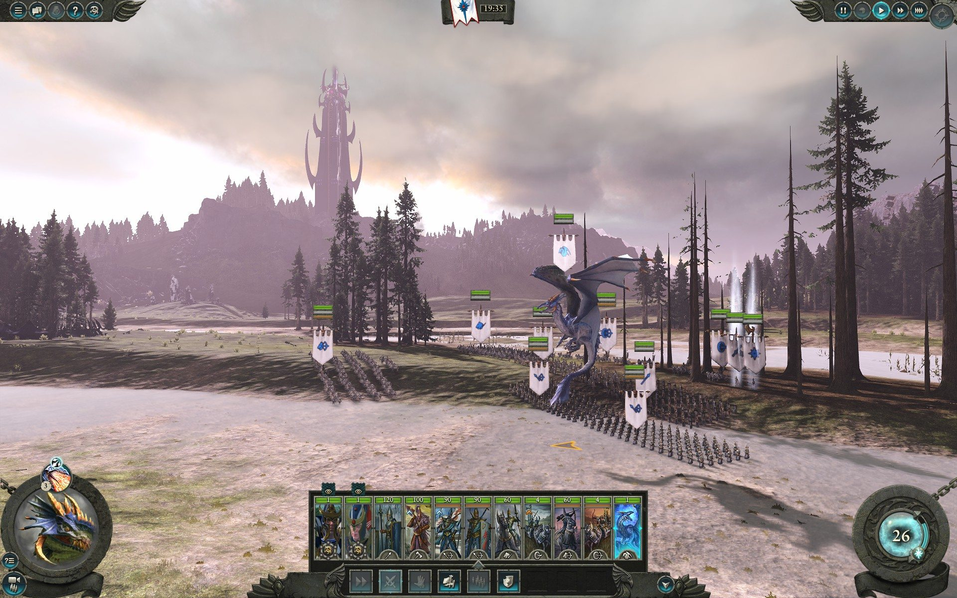 armata alti elfi warhammer 2 total war