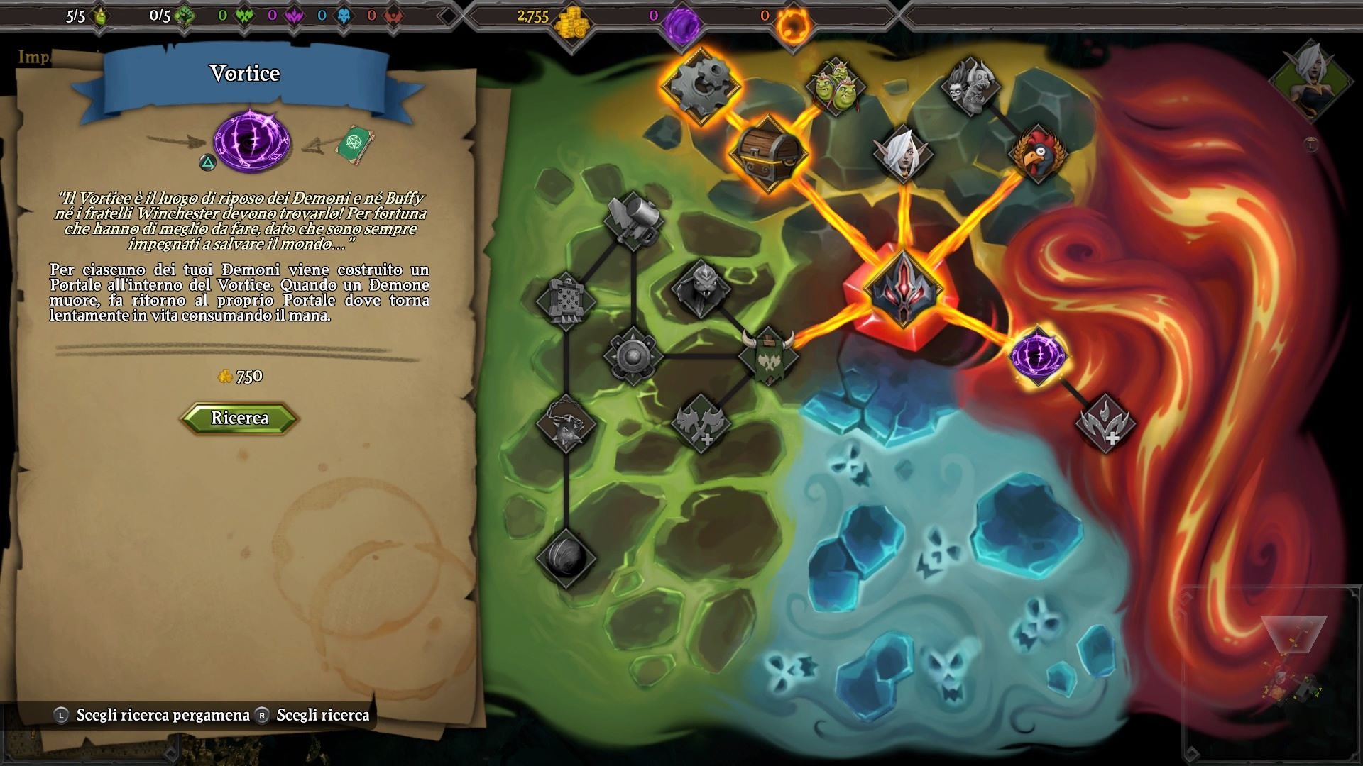 dungeons 3 mappa
