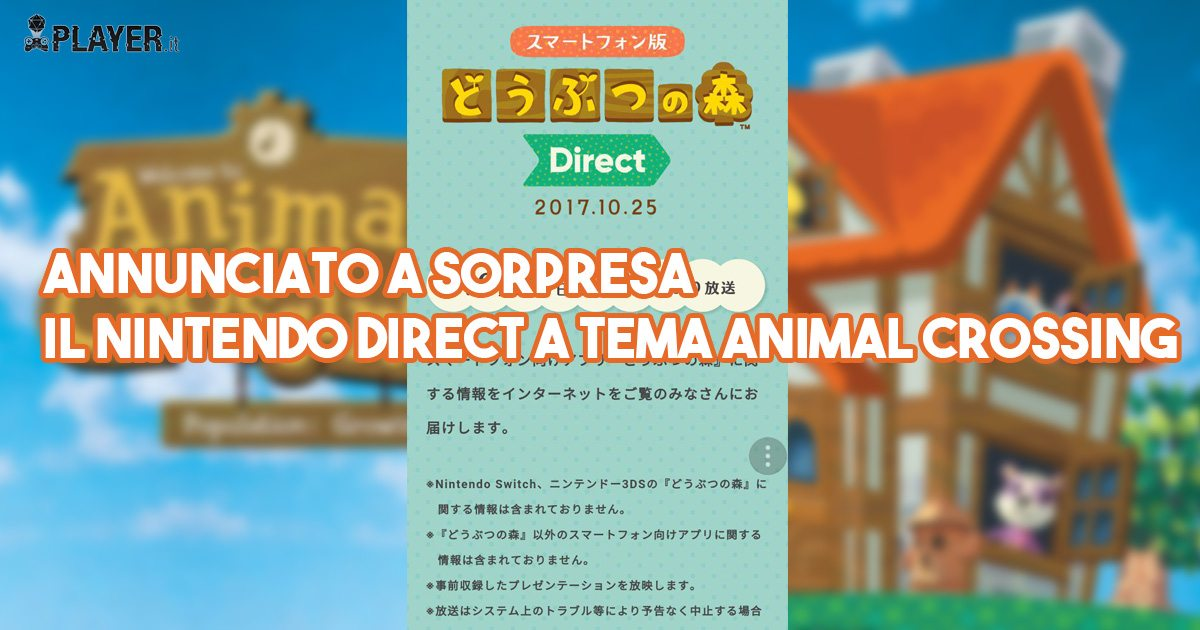 Nintendo Direct su Animal Crossing Mobile in arrivo