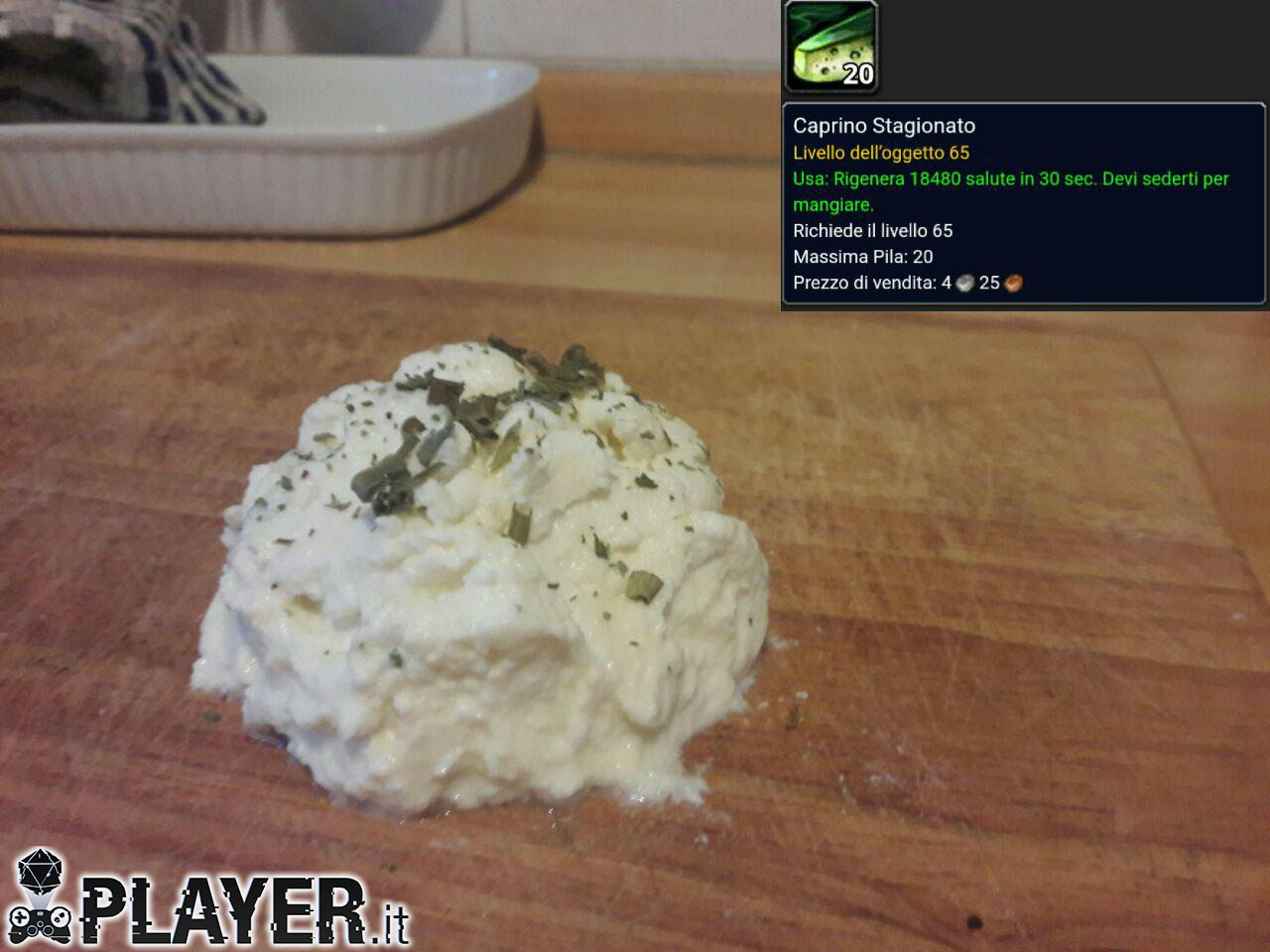 ricetta caprino stagionato di world of warcraft