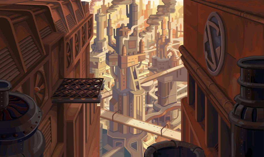 Cyberpunk Beneath a steel sky