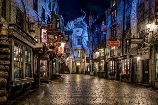 diagon alley harry potter lucca comics and games