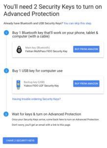 gmail protezione avanzata token