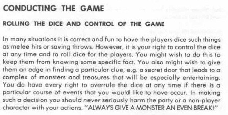 AD&D regola zero