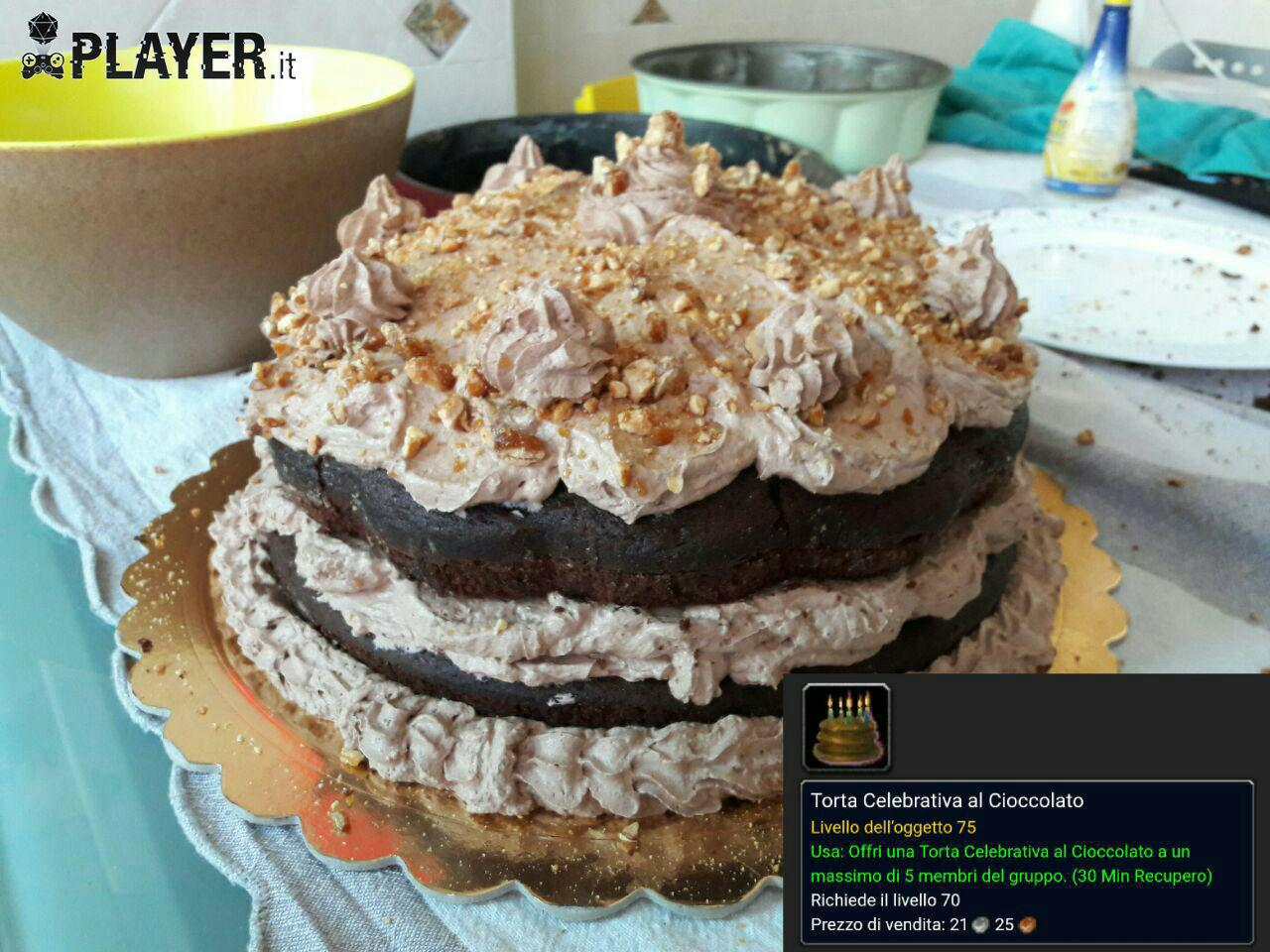 ricetta torta celebrativa di world of warcraft