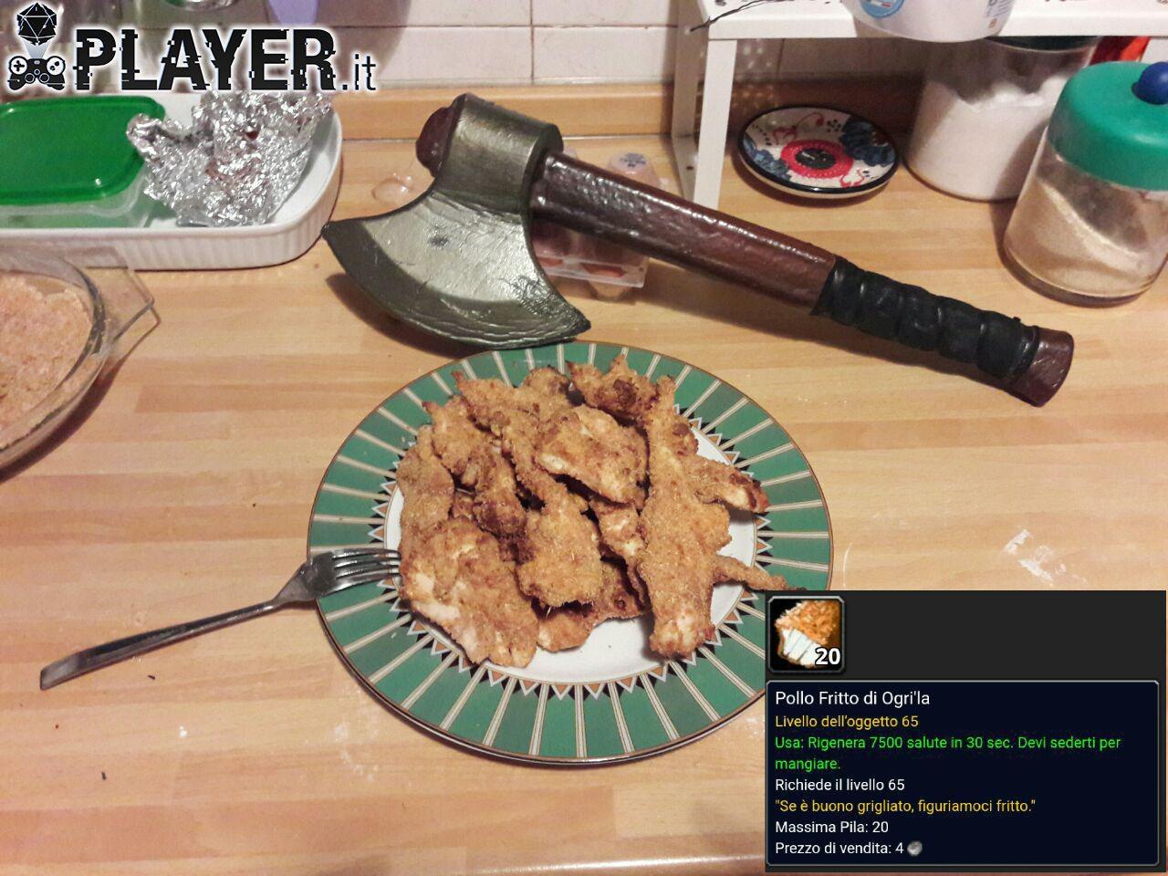 ricetta pollo fritto di world of warcraft