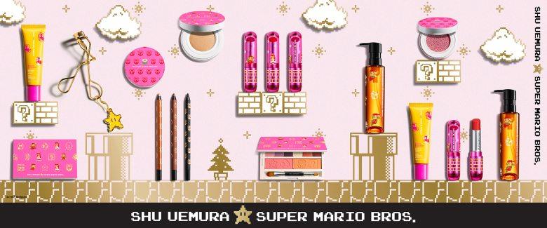 Shu Uemura e Mario per una linea di prodotti di cosmetica