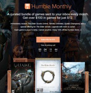 Humble Monthly Bundle Steam