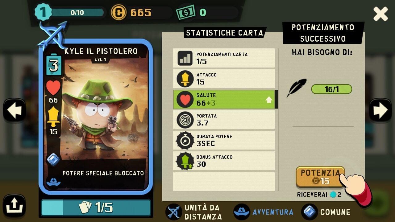 South Park Phone Destroyer carta personaggio
