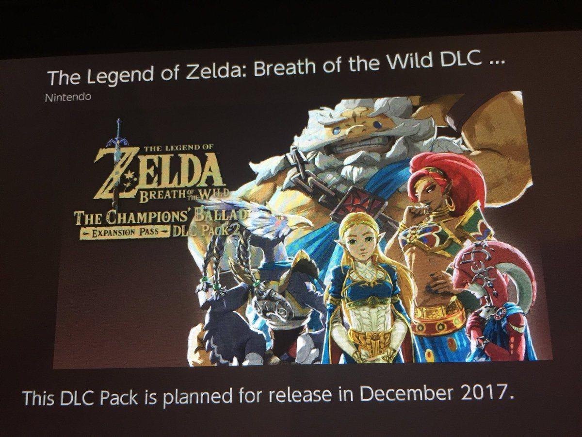 Zelda breath od the wild secondo DLC eshop