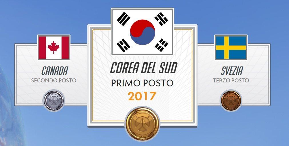 Corea del sud overwatch world cup