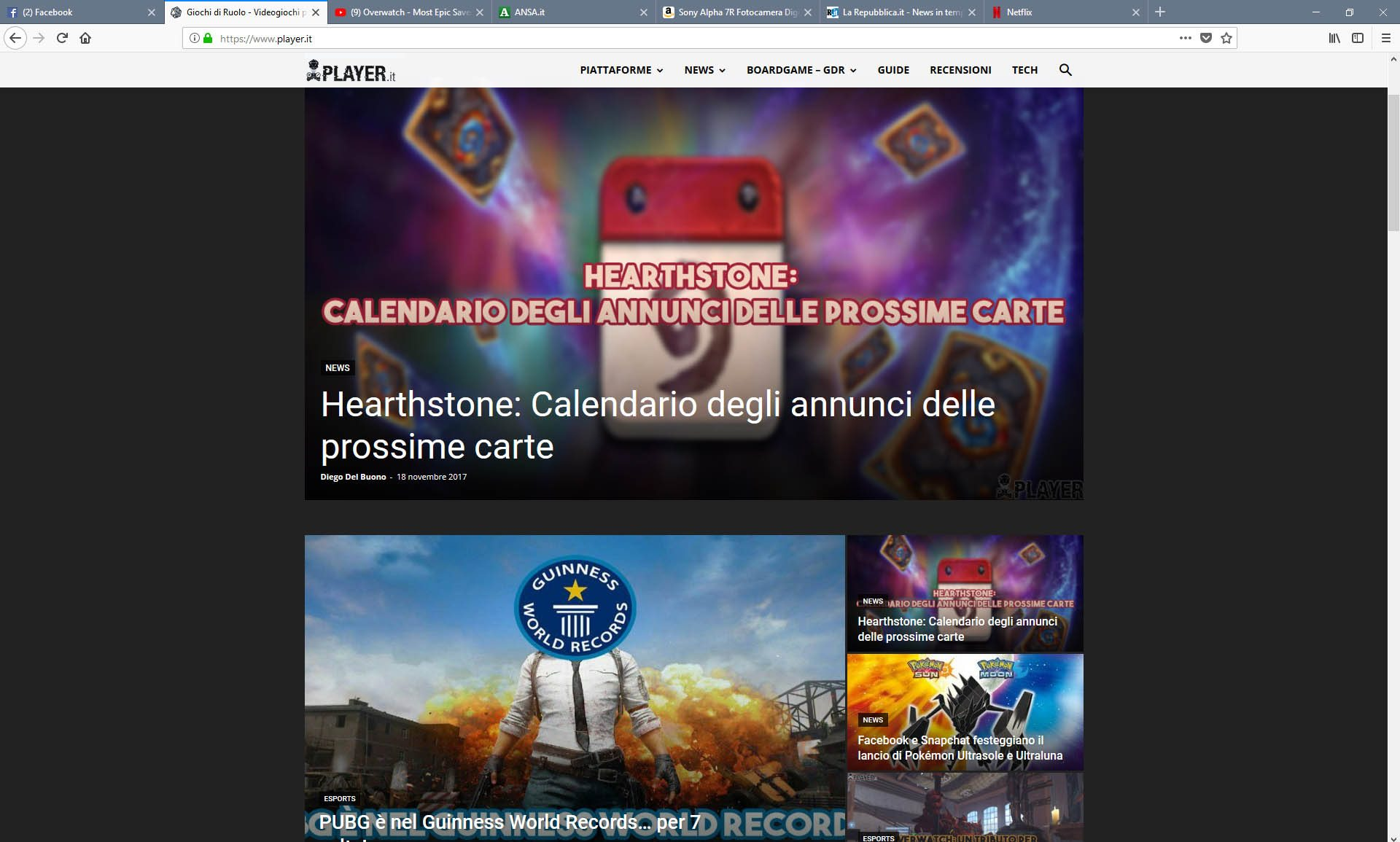 Firefox Quantum screen