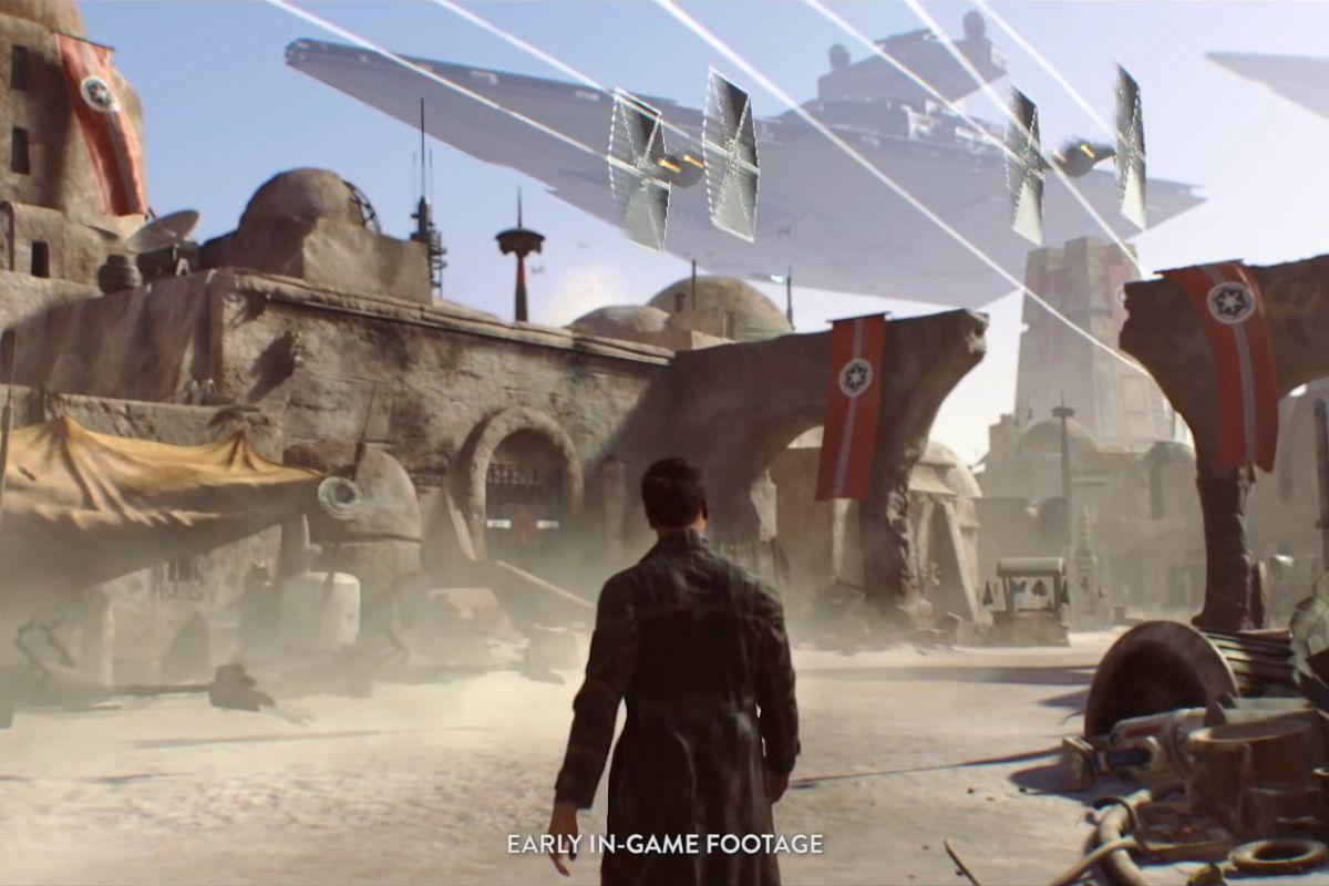 Uno screenshot dello Star Wars di Visceral Games mentre era in fase di sviluppo