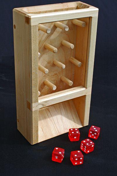 torre lancia dadi legno