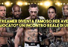 """Streamer diventa famoso per aver """"giocato"""" un incontro reale di UFC"""