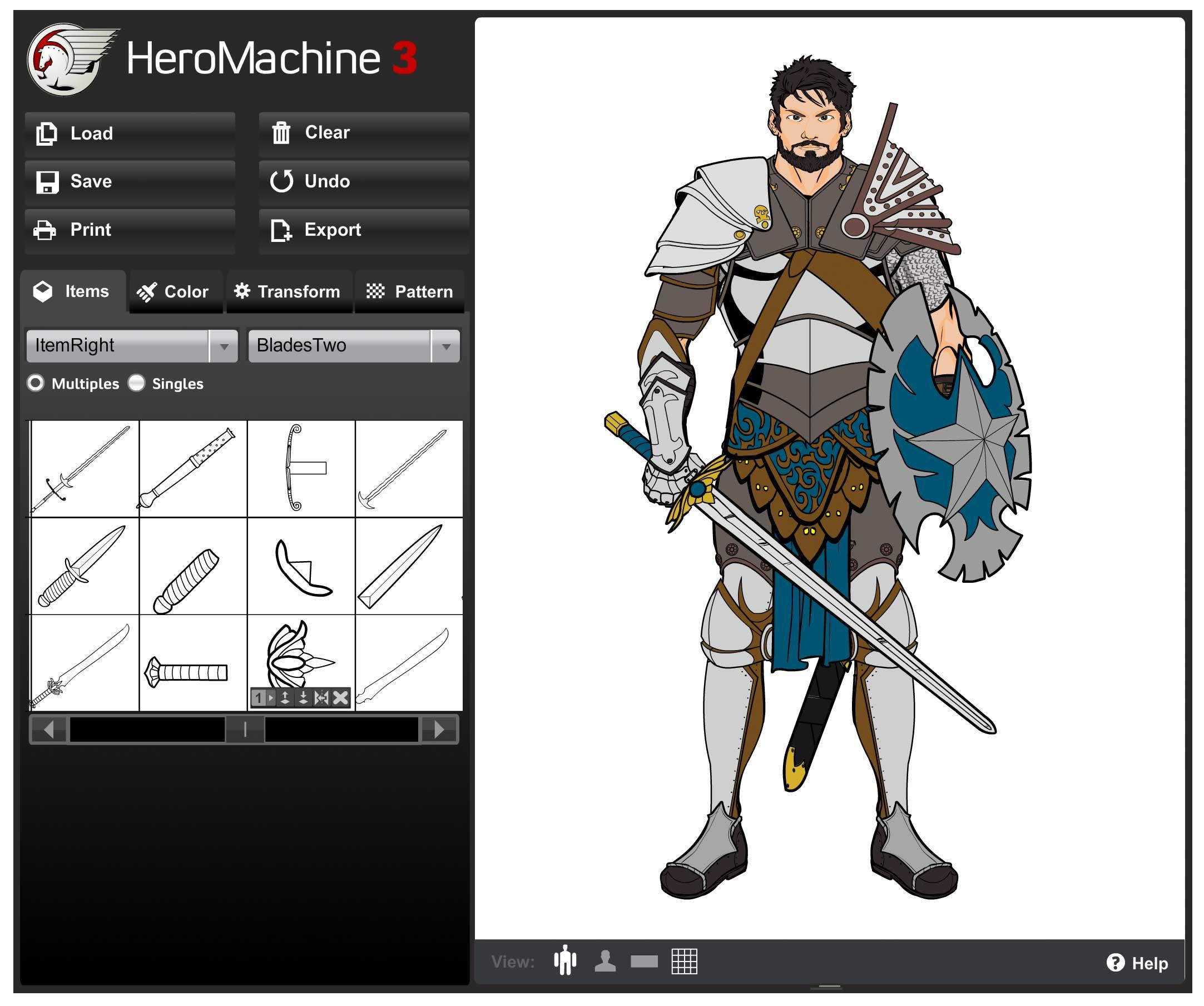 heromachine 3 per gioco di ruolo