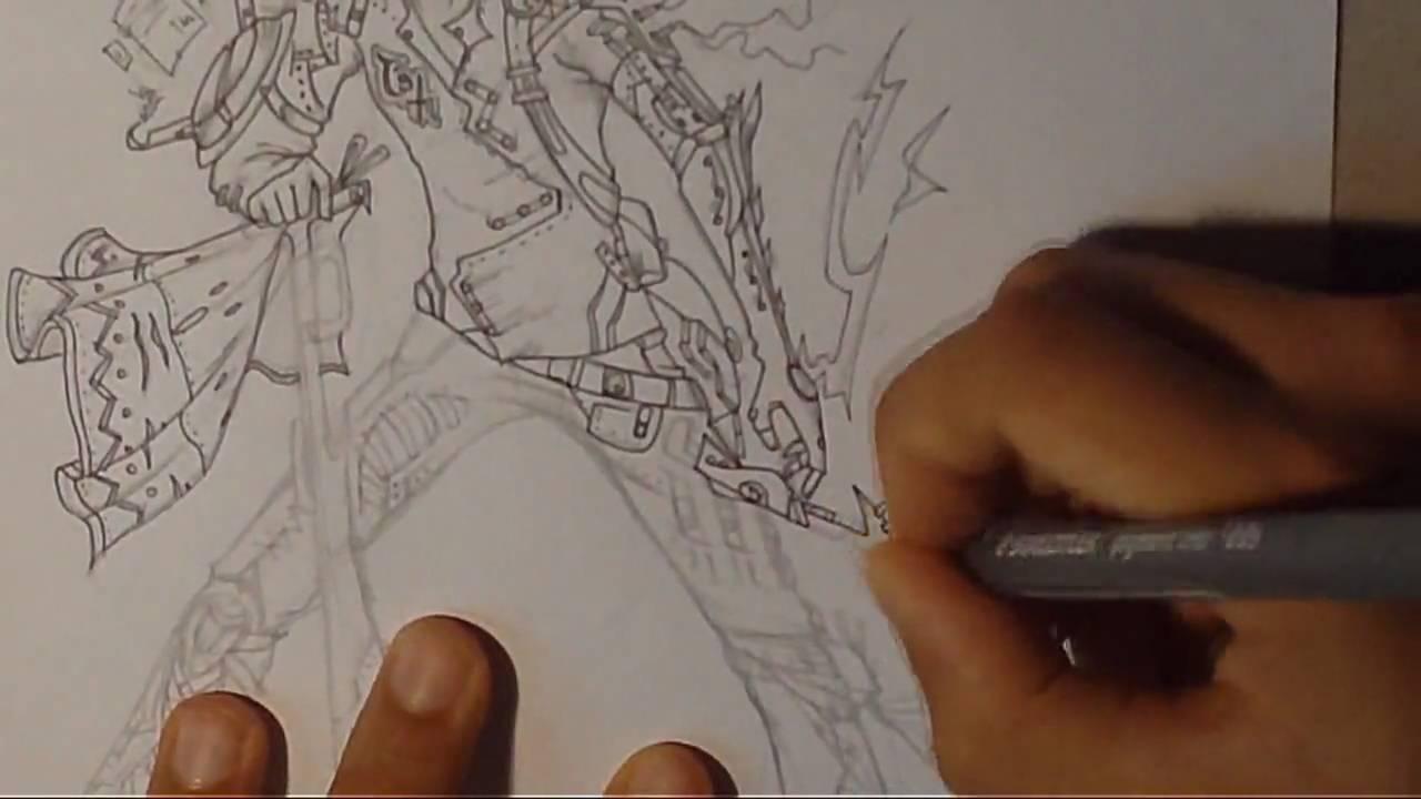 disegno personaggi gioco di ruolo a mano libera