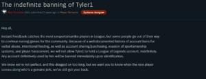 the indefinite banning of tyler1