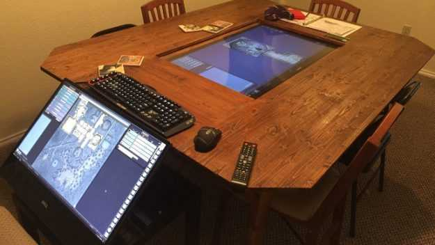 roleplaying table digital monitor