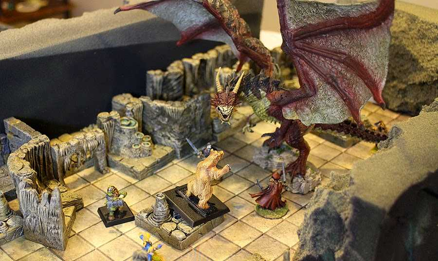 dungeon and dragons battle grid map miniatures